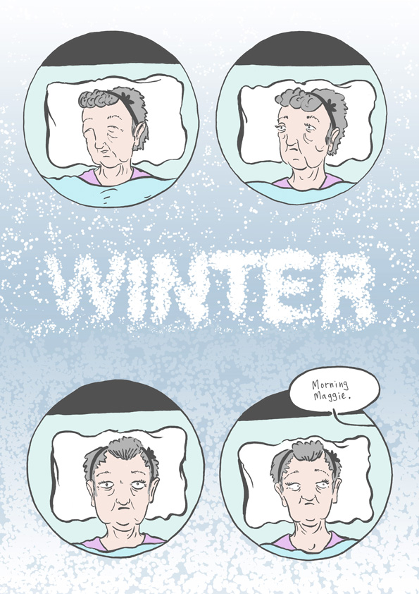 First page of 'Winter' from my book 'Seasons'