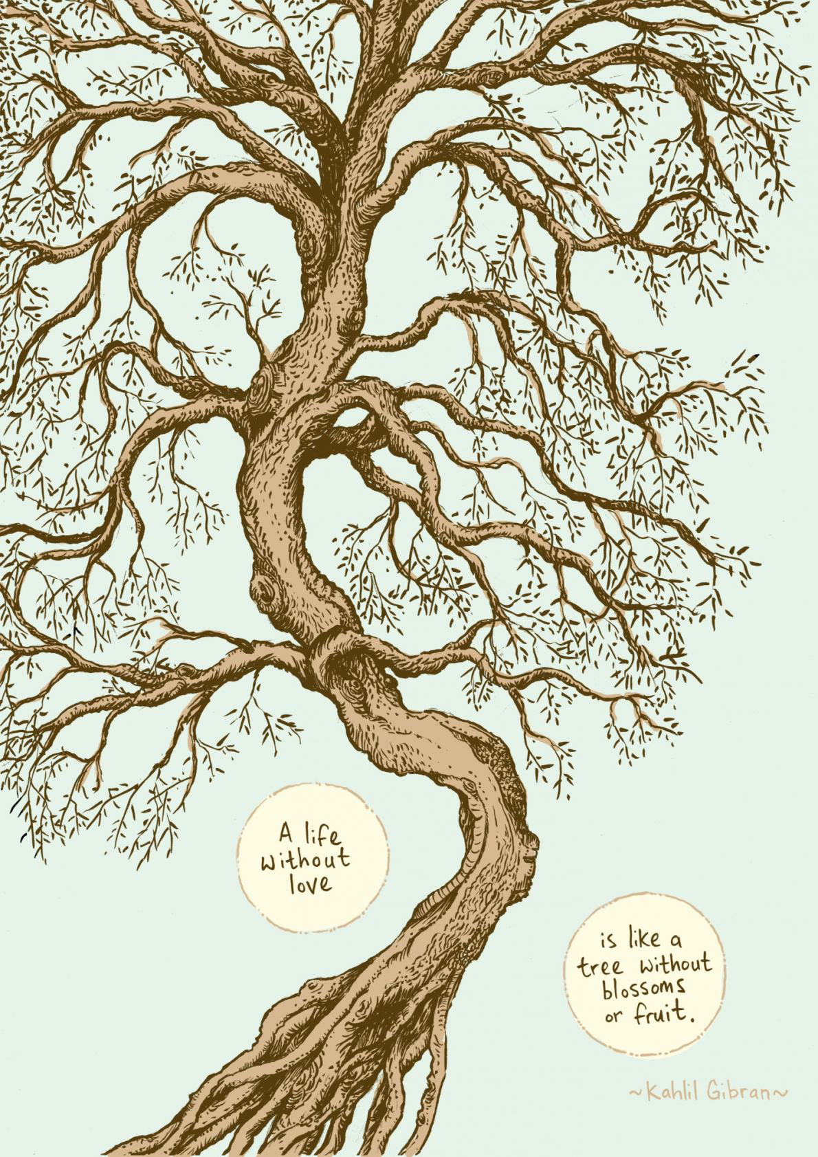 Quote from Kahlil Gibran for Meditations Illustrated